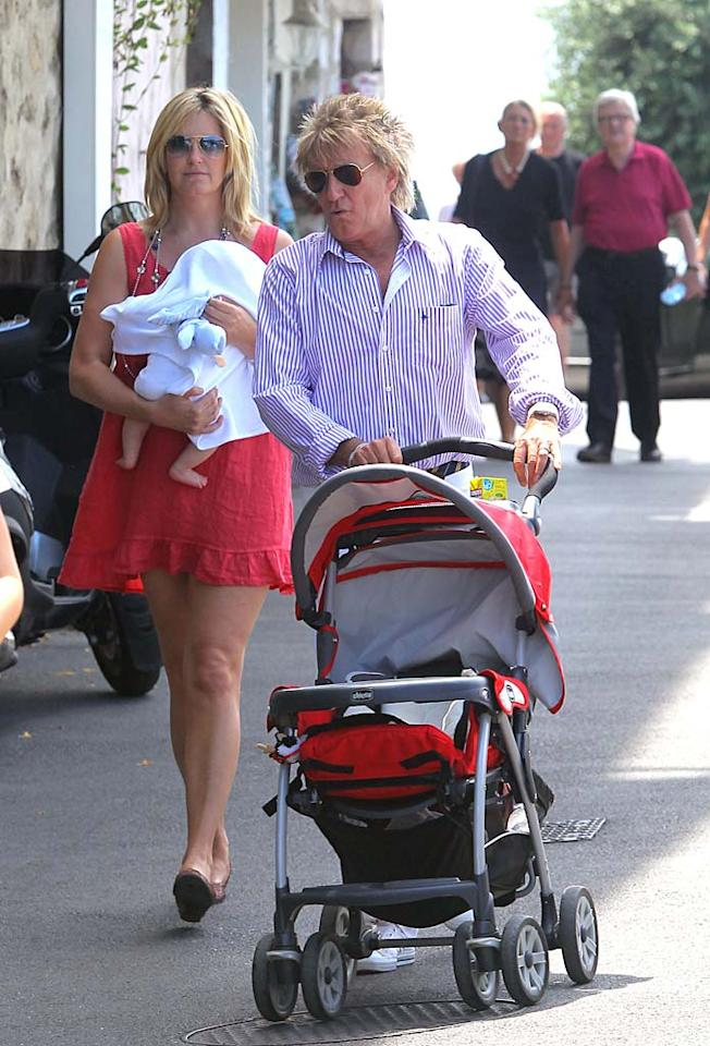 If you were surprised when Rod Stewart became a dad again at 60, you were surely shocked when his eighth child -- son Aiden -- arrived on February 16 when Rod was 66. It's his second child with third wife Penny Lancaster, 40. Their eldest son together, Alastair, is 6.