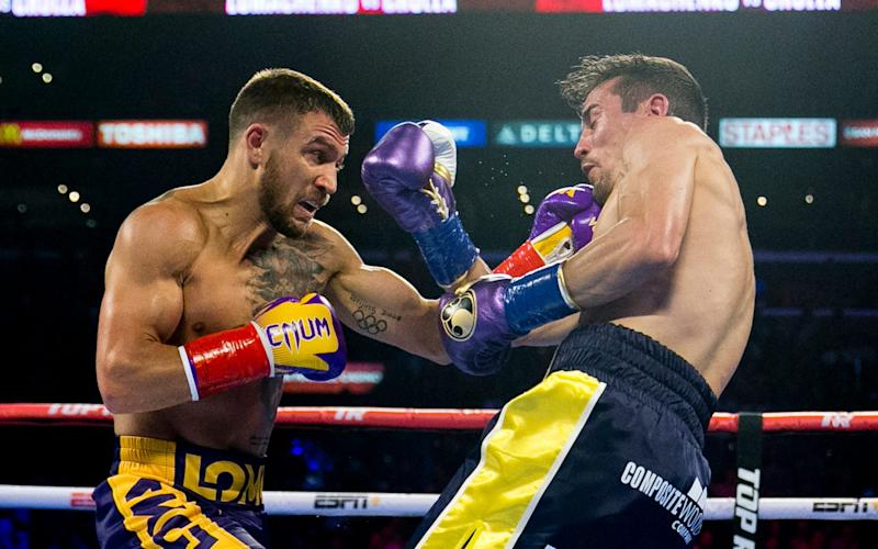 Vasiliy Lomachenko starts as 3-1 favourite ahead of his fight against Teofimo Lopez in Las Vegas - AP