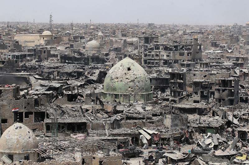 This photo taken on July 9, 2017 shows a general view of the destruction in Mosul's Old City (AFP Photo/AHMAD AL-RUBAYE)