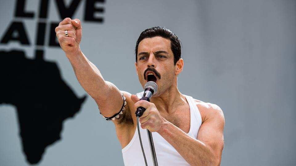 Malek as Freddie Mercury in Bohemian Rhapsody (Credit: 20th Century Fox)