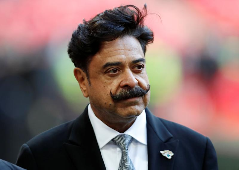 NFL Football - Philadelphia Eagles v Jacksonville Jaguars - NFL International Series - Wembley Stadium, London, Britain - October 28, 2018 Jacksonville Jaguars owner Shahid Khan before the match Action Images via Reuters/Paul Childs