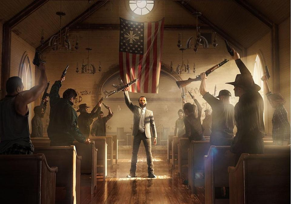 A typical church ceremony in Hope County, Montana.