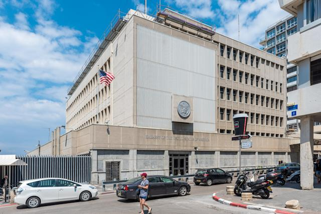 The U.S. Embassy in Tel Aviv, Israel (Photo: Michael Jacobs/Art in All of Us/Corbis via Getty Images)