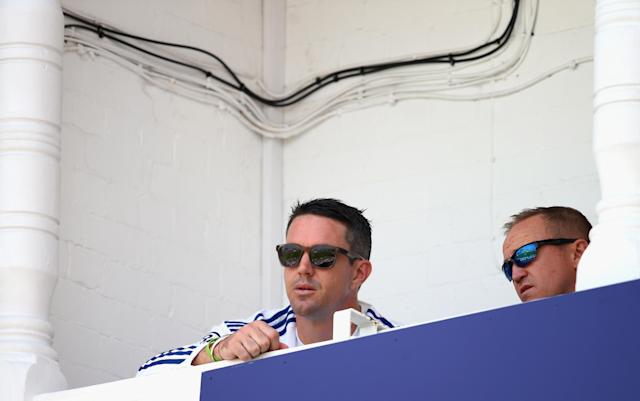 NOTTINGHAM, ENGLAND - JULY 12: Kevin Pietersen of England and Andy Flower, coach of England, look on during day three of the 1st Investec Ashes Test match between England and Australia at Trent Bridge Cricket Ground on July 12, 2013 in Nottingham, England. (Photo by Ryan Pierse/Getty Images)