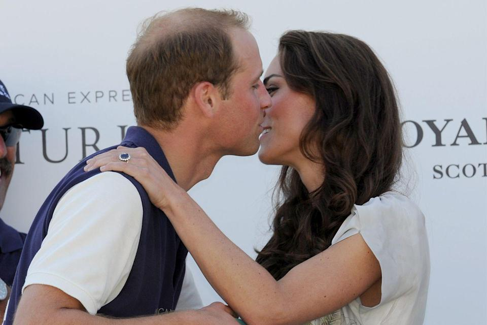 <p>In 2011, Prince William and Kate uncharacteristically embraced in a very public kiss at the Santa Barbara Polo & Racquet Club. </p>
