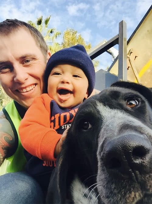 Cameron Morton felt helpless when he found out that his dog was ill. Photo: Supplied