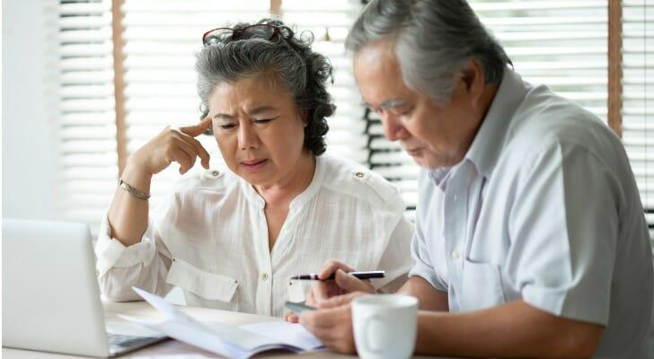 Older couple at tax time