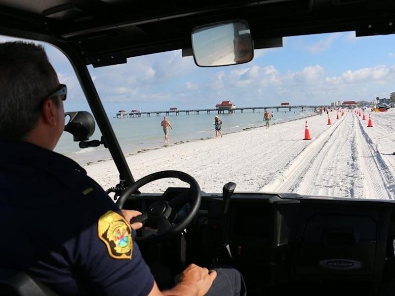 Law enforcement will have a heavy presence on Pinellas County beaches throughout Memorial Day weekend.