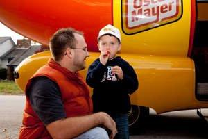 Photo Advisory: The Oscar Mayer Wienermobile Reroutes to Bring Cheer to the 'Saddest Little Cardinals Fan'