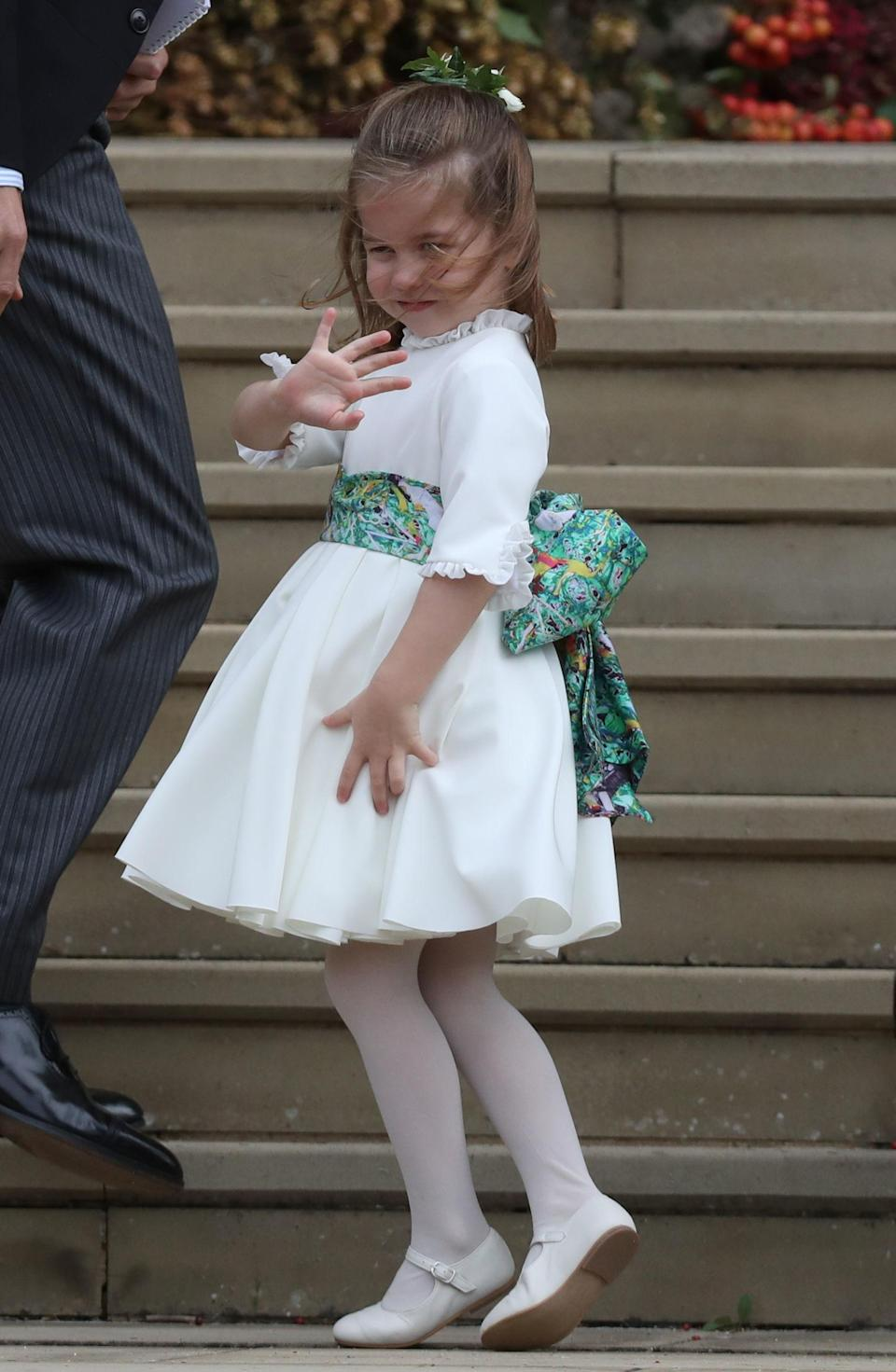 <p>When Princess Charlotte melted hearts with her signature wave. </p>