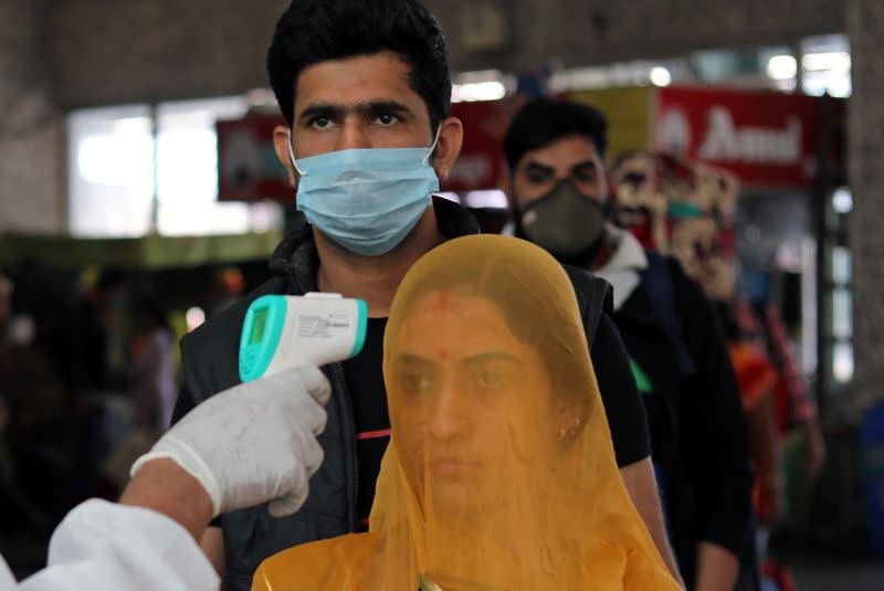 FILE PHOTO: The spread of the coronavirus disease (COVID-19), in Mumbai