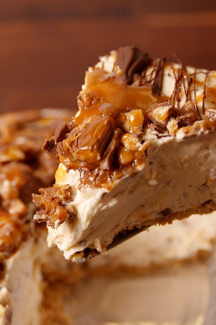 """<p>This cheesecake is a real crowd pleaser.</p><p>Get the recipe from <a href=""""/cooking/recipe-ideas/recipes/a51202/twix-cheesecake-recipe/"""" data-ylk=""""slk:Delish"""" class=""""link rapid-noclick-resp"""">Delish</a>.</p>"""