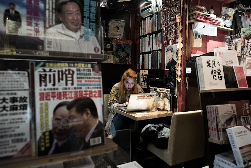 Disappearance of five booksellers has sent shivers through Hong Kong as anxiety grows that Chinese control over the city is tightening (AFP Photo/Philippe Lopez)