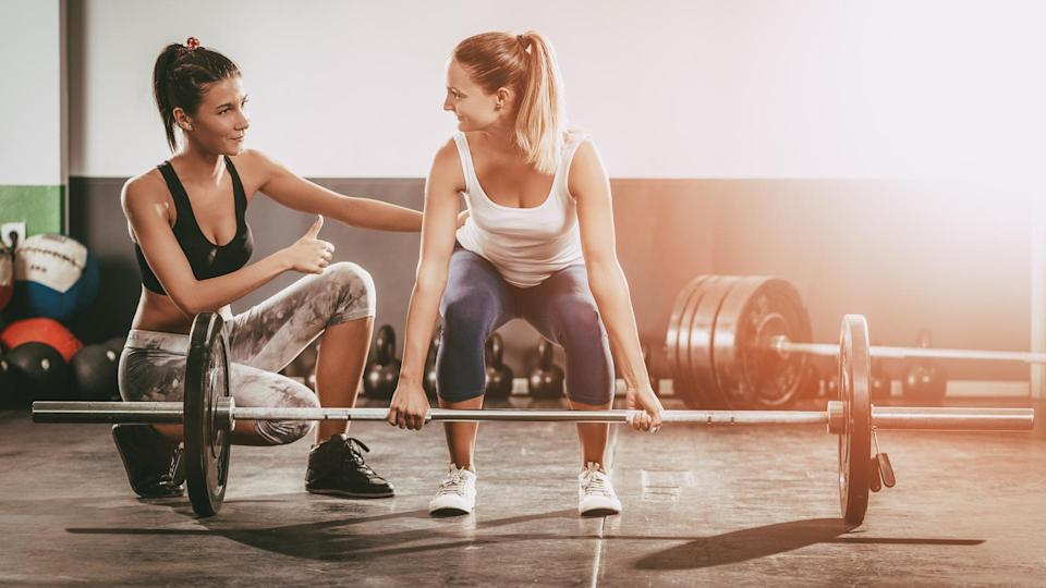 """<p><strong>Median salary:</strong> $<span>39,210</span></p> <p>What's better than making time for your own well-being and helping others strive for the same? Knowing you have one of the best jobs for work-life balance, offering a flexible schedule and often, free gym memberships.</p> <p>According to the Department of Labor, you might have to work nights, weekends or even holidays to lead a group fitness class or a personal-trainer session. Working independently can give you more choice. You can also choose to work just part time in the field, only committing to what you want to take on.</p> <p><em><strong>Read More: <a rel=""""nofollow noopener"""" href=""""https://www.gobankingrates.com/making-money/paid-sweat-ways-make-money-getting-shape/"""" target=""""_blank"""" data-ylk=""""slk:6 Ways to Make Money for Getting in Shape"""" class=""""link rapid-noclick-resp"""">6 Ways to Make Money for Getting in Shape</a></strong></em></p>"""