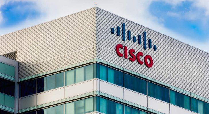 cisco (CSCO) logo on an office building