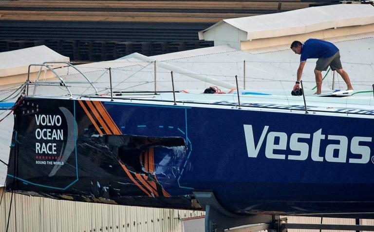 All Vestas crew members were safe but the boat was damaged