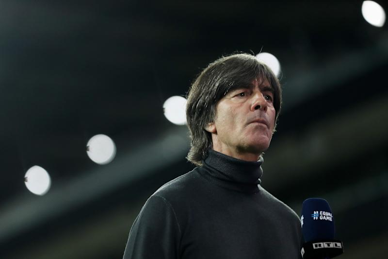 COLOGNE, GERMANY - OCTOBER 07: Head coach Joachim Loew of Germany seen during the international friendly match between Germany and Turkey at RheinEnergieStadion on October 07, 2020 in Cologne, Germany. (Photo by Lars Baron/Getty Images)