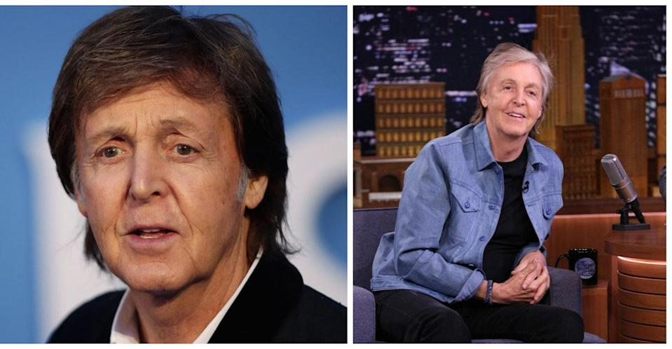 Sir Paul McCartney in 2016 and then on Thursday night's Tonight Show with Jimmy Fallon. (PA Images)