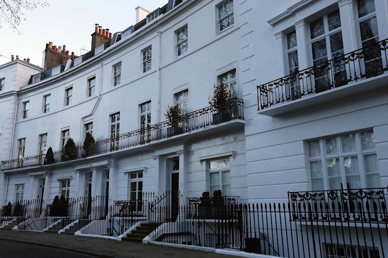 LONDON, ENGLAND - DECEMBER 28: A general view of Egerton Crescent in the Royal Borough of Kensington and Chelsea, on December 28, 2013 in London, England. Egerton Crescent has been named by Lloyds Bank as Britain's most expensive road to live in, with average property prices around £5M GBP. (Photo by Dan Kitwood/Getty Images)
