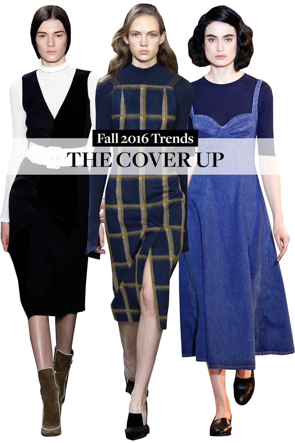 <p>Go ahead and spend a fortune on that summer dress because come fall you can wear it over a ribbed long-sleeve top or roll-neck sweater.</p>