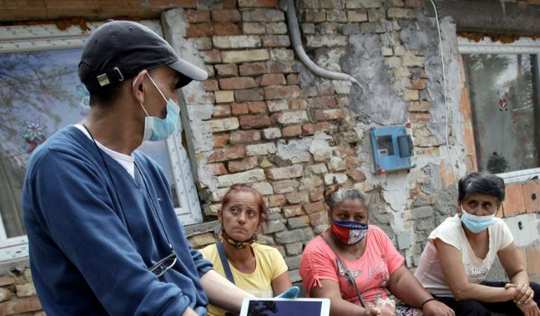 """""""No one else is looking after us, so we have to do it ourselves,"""" said Jozsef Radics, who is helping Roma get vaccines"""