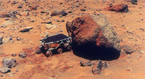 """<p>After departing Earth on December 4, 1996, <a href=""""https://mars.nasa.gov/programmissions/missions/past/pathfinder/"""" rel=""""nofollow noopener"""" target=""""_blank"""" data-ylk=""""slk:Mars Pathfinder"""" class=""""link rapid-noclick-resp"""">Mars Pathfinder</a> didn't reach its namesake until July 4, 1997. When the 23-pound Sojourner rover reached Mars, becoming the first to ever reach another planet, it explored the Ares Vallis area of the red planet and analyzed its atmosphere, climate, and geology. There were concerns about how to<a href=""""https://www.popularmechanics.com/space/moon-mars/a17407/mars-mission-failures/"""" rel=""""nofollow noopener"""" target=""""_blank"""" data-ylk=""""slk:land safely"""" class=""""link rapid-noclick-resp""""> land safely</a> on Mars, but a creative approach that surrounded the rover in airbags was successful. The mission brought in evidence suggesting that Mars once had flowing water and that the atmosphere is heated by the planet's surface. Sojourner made its final transmission in September, but by then it was already considered <a href=""""https://www.popularmechanics.com/space/satellites/a25394146/golden-age-of-probes/"""" rel=""""nofollow noopener"""" target=""""_blank"""" data-ylk=""""slk:a great success"""" class=""""link rapid-noclick-resp"""">a great success</a>.<br></p>"""