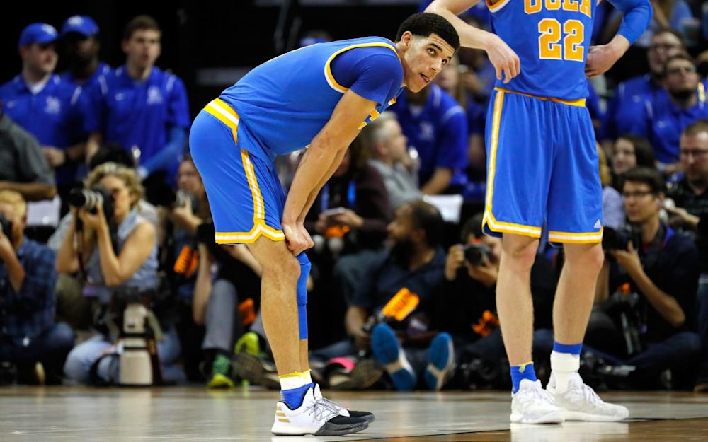 Lonzo Ball was reportedly nursing a pulled hamstring as Bruins crashed out of the championship - Credit: Kevin C. Cox/Getty