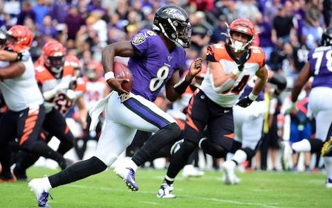 <span>Lamar Jackson destroyed the Bengals with his running ability</span> <span>Credit: USA Today </span>