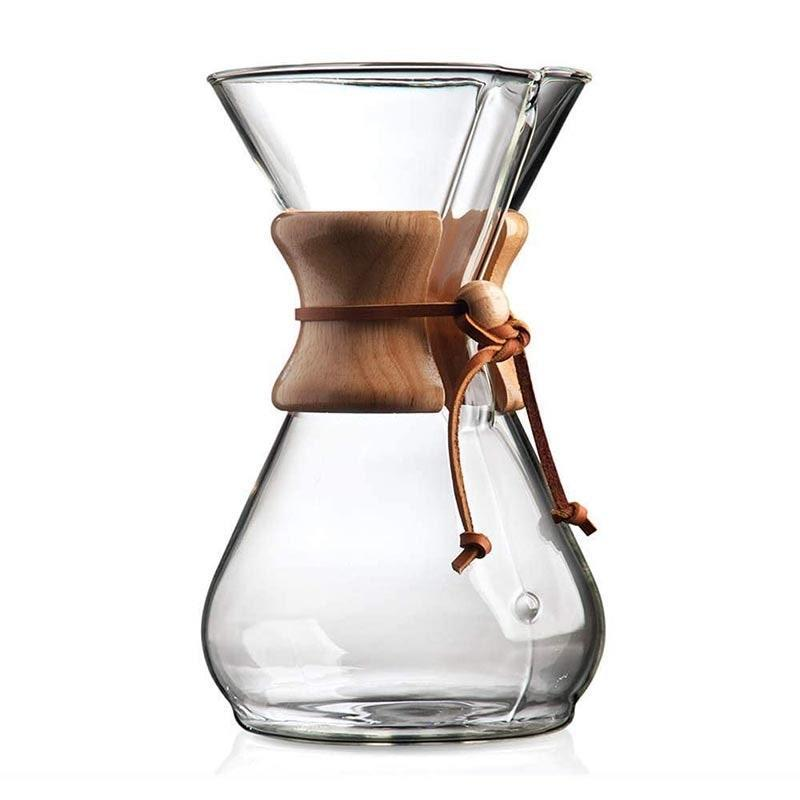 "The gold standard of pour-over coffee, the Chemex Classic is made of high-quality glass that won't absorb odors or residue and features a patented design allowing coffee to be covered and refrigerated while still retaining its flavor. Extra points for the cute leather strap and wooden bead detail on this <a href=""https://glamour.com/story/the-best-way-to-make-coffee-at-home"" rel=""nofollow noopener"" target=""_blank"" data-ylk=""slk:barista-recommended"" class=""link rapid-noclick-resp"">barista-recommended</a> vessel. $48, Amazon. <a href=""https://www.amazon.com/Chemex-Classic-Pour-over-Glass-Coffeemaker/dp/B000I1WP7W/"" rel=""nofollow noopener"" target=""_blank"" data-ylk=""slk:Get it now!"" class=""link rapid-noclick-resp"">Get it now!</a>"