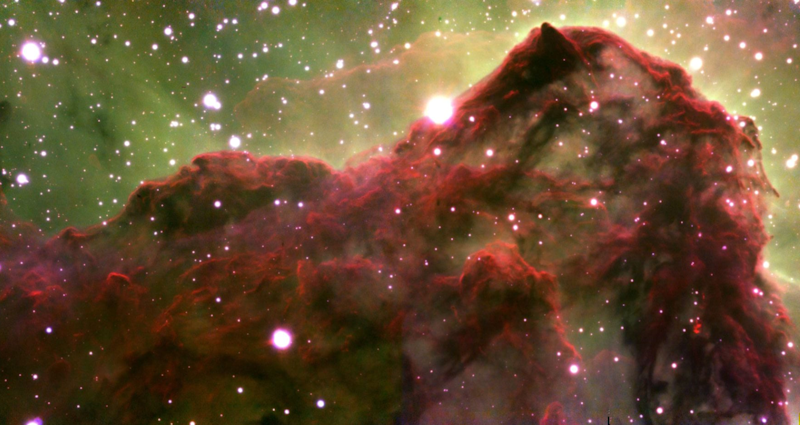 The image shows a molecular cloud where stars are born (Rice University)