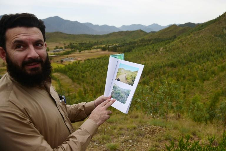 Pervaiz Manan, head of the Khyber Pakhtunkhwa forest department, shares pictures of the site previously, when only sparse blades of tall grass interrupted the landscape