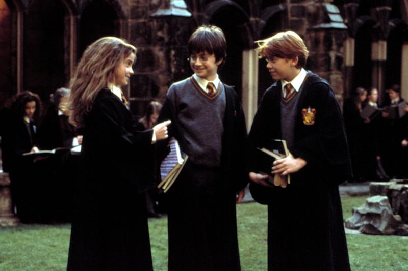 HARRY POTTER AND THE CHAMBER OF SECRETS, Emma Watson, Daniel Radcliffe, Rupert Grint, 2002, (c) Warner Brothers/courtesy Everett Collection