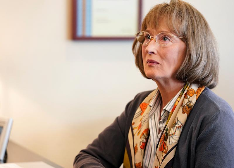 Meryl Streep stars as Perry's mother in search of truth. (PHOTO: Jennifer Clasen/HBO)