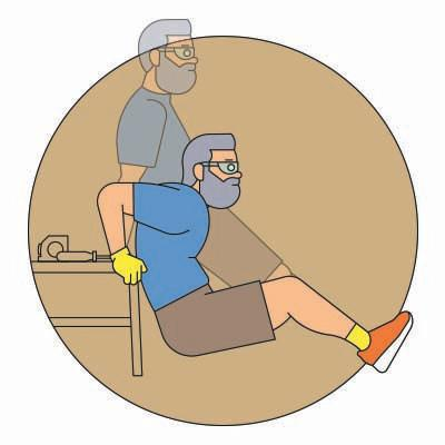 <p><strong>How</strong>: Find a chair or table. Slide your bum off it, legs extended. Straighten your arms and lower your body until your elbows are at a 90-degree angle. Return to start and repeat. </p><p><strong>Why</strong>: Strengthens the shoulders and arms to help your running posture. </p>