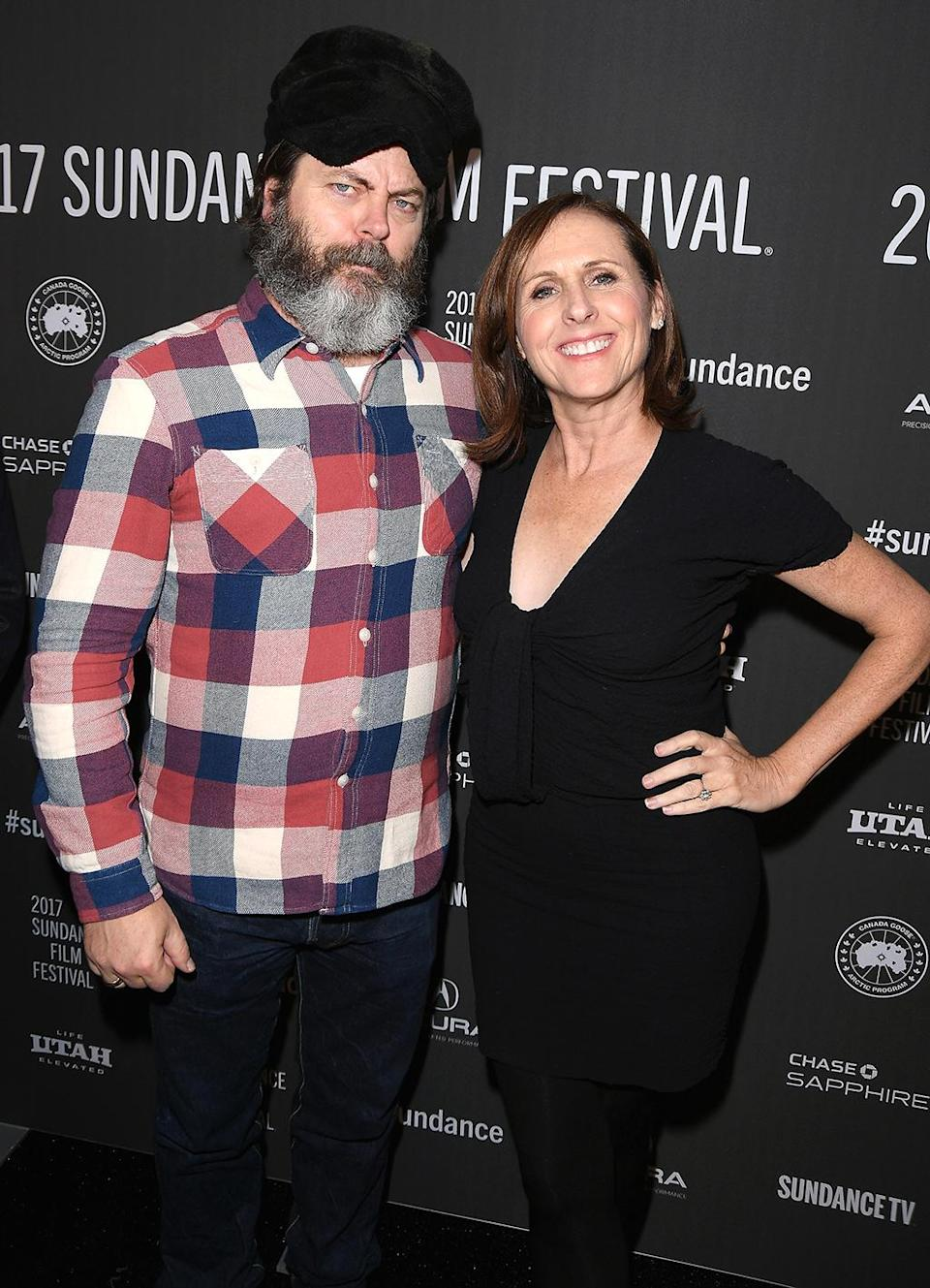 <p>The hilarious actors attend the premiere of their comedy 'The Little Hours' on Jan. 19. (Photo: George Pimentel/Getty Images) </p>
