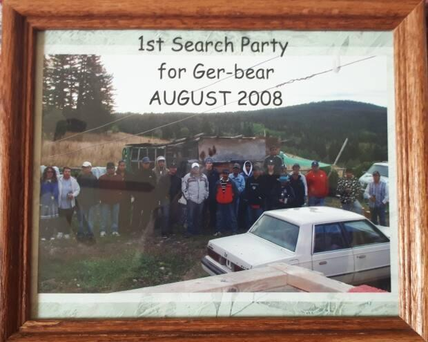 One of the search parties that gathered to look for Gerald Supernault in August 2008.