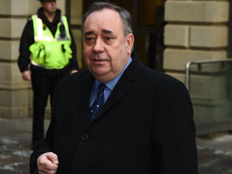 Alex Salmond speaks outside court in Edinburgh in November 2019: AFP/Getty