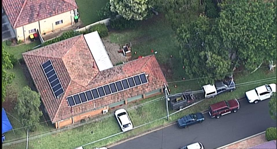 Police were called to the house Sunday afternoon. Source: 7News