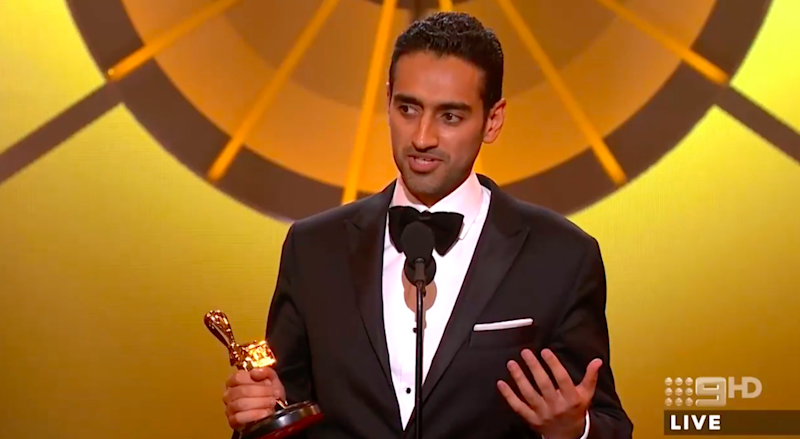 "Waleed Aly dedicated his Gold Logie 2016 win to people ""with unpronounceable names'. Photo: Channel Nine"