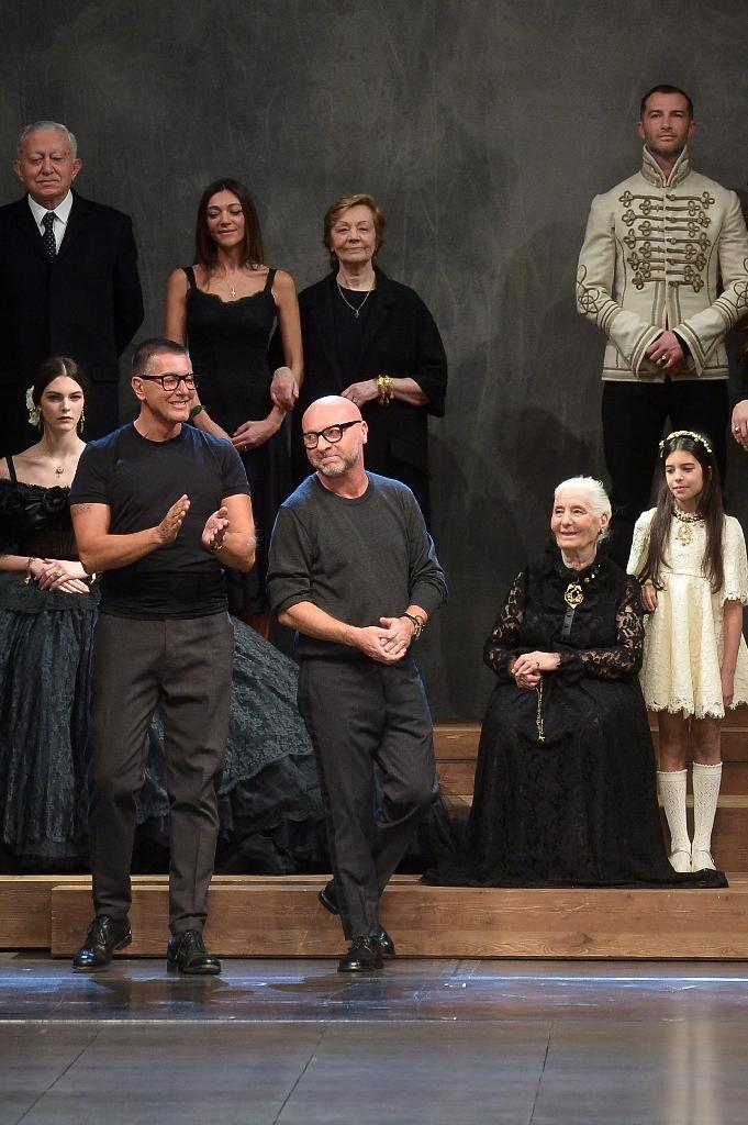 Italian designers Stefano Gabbana and Domenico Dolce (R) have hit back at Elton John and his call for a boycott of their products (AFP Photo/Tiziana Fabi)