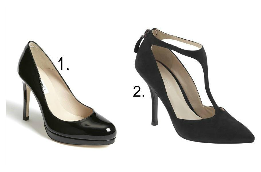 """<div class=""""caption-title"""">Black Pumps</div>A non-negotiable must-have. Step in and out from business meetings to date night. ( Photo by L.K. Bennett; Nine West)"""
