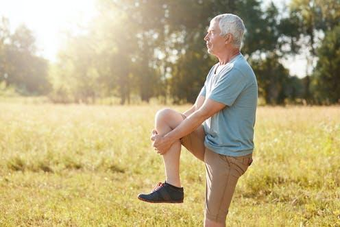 """<span class=""""caption"""">Standing on one leg regularly is good for you.</span> <span class=""""attribution""""><span class=""""source"""">Storytimestudio/Shutterstock</span></span>"""
