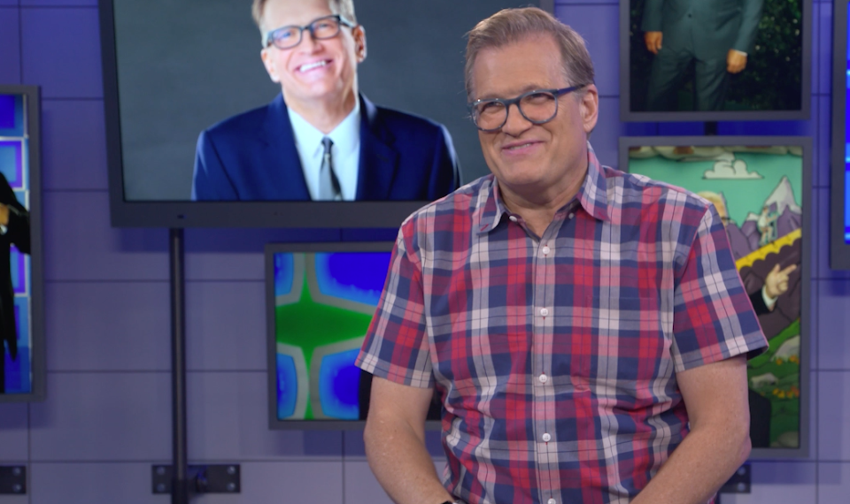 Drew Carey chatting with Yahoo Entertainment in our Los Angeles studios in September, 2017.