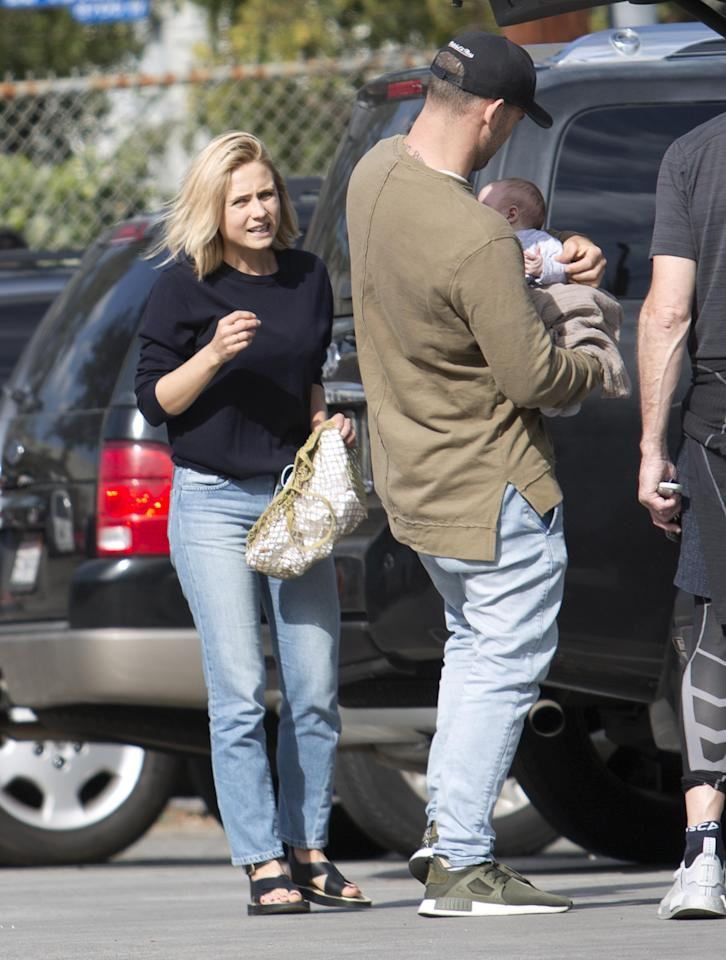 <p>The couple were spotted out together in Los Angeles with their miracle newborn baby.</p>