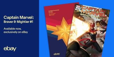 eBay is offering a newly released, limited edition Captain Marvel: Braver & Mightier #1 comic book with an exclusive variant cover designed in collaboration with eBay, Marvel and eBay seller MyComicShop.