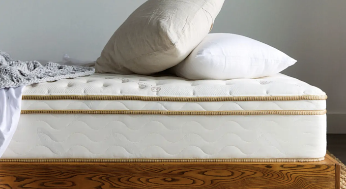 """If it wasn't already clear from this list, sleep was something that we did not take for granted this year. Not only did we invest in products to help us with bedtime <a href=""""https://www.architecturaldigest.com/gallery/products-help-you-sleep-anxious?mbid=synd_yahoo_rss"""" rel=""""nofollow noopener"""" target=""""_blank"""" data-ylk=""""slk:anxiety"""" class=""""link rapid-noclick-resp"""">anxiety</a> and <a href=""""https://www.architecturaldigest.com/story/cbd-pillow?mbid=synd_yahoo_rss"""" rel=""""nofollow noopener"""" target=""""_blank"""" data-ylk=""""slk:stress"""" class=""""link rapid-noclick-resp"""">stress</a>, we also upgraded our <a href=""""https://www.architecturaldigest.com/gallery/best-mattress-in-a-box?mbid=synd_yahoo_rss"""" rel=""""nofollow noopener"""" target=""""_blank"""" data-ylk=""""slk:mattresses"""" class=""""link rapid-noclick-resp"""">mattresses</a>. Saatva's high-end hybrid had a lot of fans around these parts and hopefully gave some of you a better night's sleep. $1399, Saatva. <a href=""""https://www.saatva.com/mattresses/saatva-classic"""" rel=""""nofollow noopener"""" target=""""_blank"""" data-ylk=""""slk:Get it now!"""" class=""""link rapid-noclick-resp"""">Get it now!</a>"""