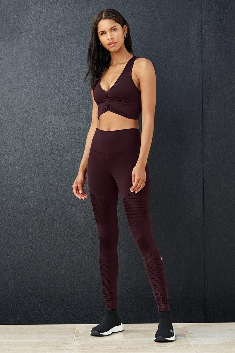 <p>We love the look of these <span>Alo High-Waist Moto Leggings</span> ($114) and <span>Wild Thing Bra</span> ($62).</p>