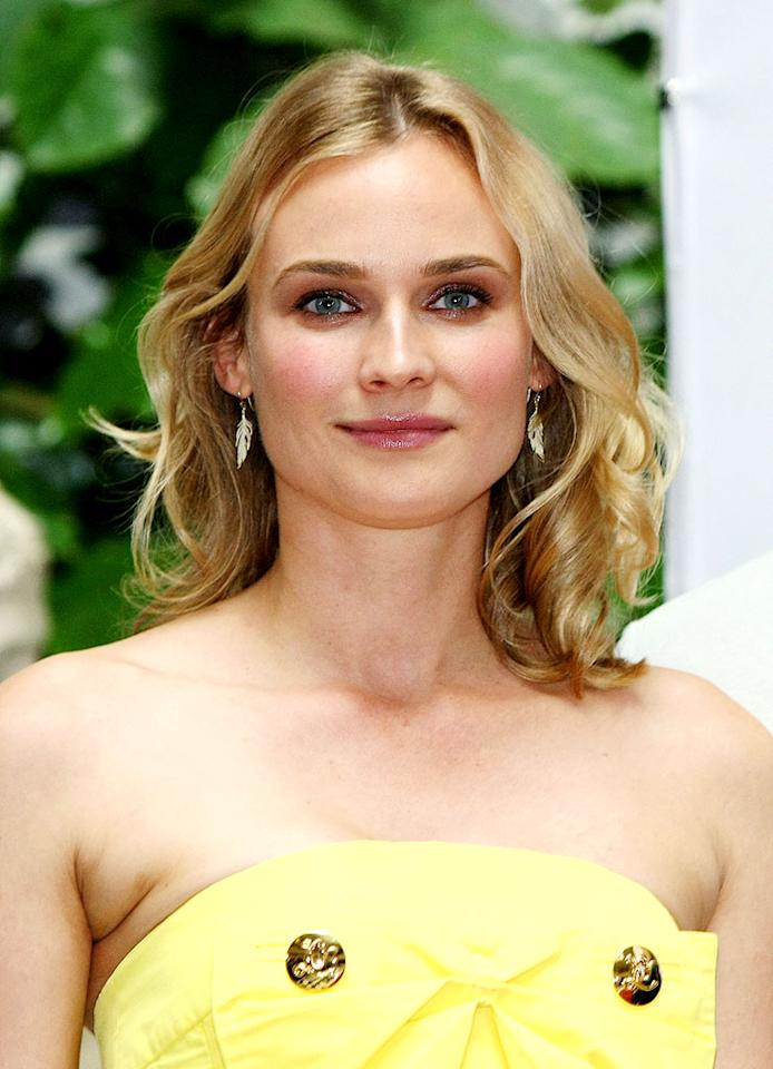 "Diane Kruger credits her flawless skin to daily sunscreen applications and massive water consumption. Sean Gallup/<a href=""http://www.gettyimages.com/"" target=""new"">GettyImages.com</a> - July 28, 2009"