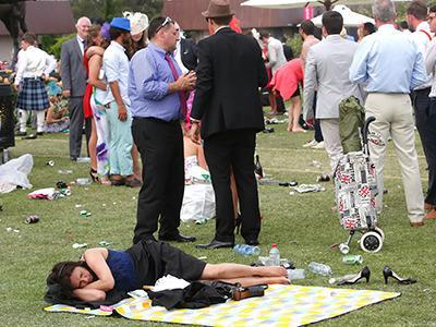 By the last race it's clearly time for shoes off and head down.