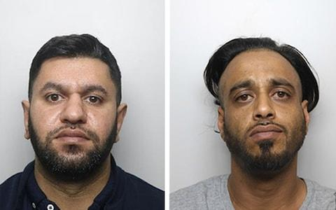 Grooming gang members Masaued Malik (left) and Sharaz Hussain (right), who were jailed for sexually abusing young girls in Rotherham, South Yorkshire. - Credit: NCA